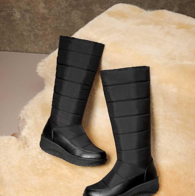 REAVE CAT 2020 Kar Botları Kadın Kış Sıcak Püskül platform ayakkabılar Su Geçirmez kaymaz Orta Buzağı Büyük Boy 35 -43