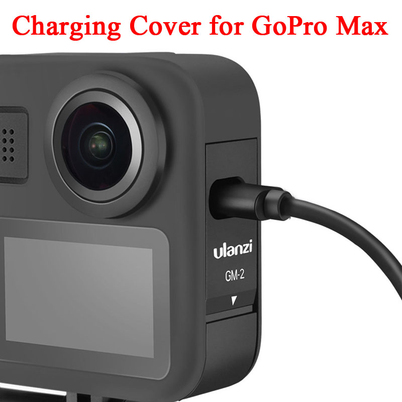 2020 New Charging Cover For Gopro Max Battery Cable Cover Detachable Battery Door Type-C Charging Port For GoPro Max Accessories