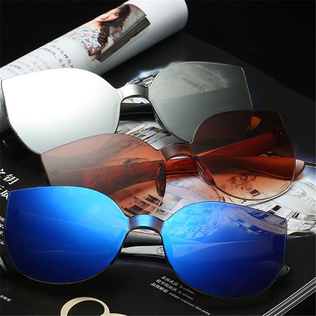 TTLIFE New Fashion Women Cat Eye Sunglasses Luxury Brand Designer Sun Glasses  Candy Color Mirror Eyewear Oculos De Sol YJHH0207