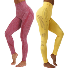 Seamless Leggings For Women Yoga Pants Solid Tummy Control L