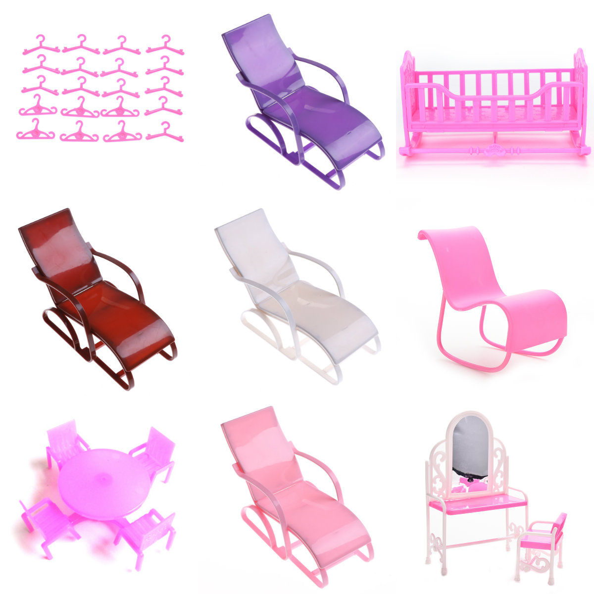 1SetMix Doll Accessories Shoes Rack Playhouse Furniture Mini Swing Play Toy For Barbie Doll Kelly Doll Kids Gift DIY Toys