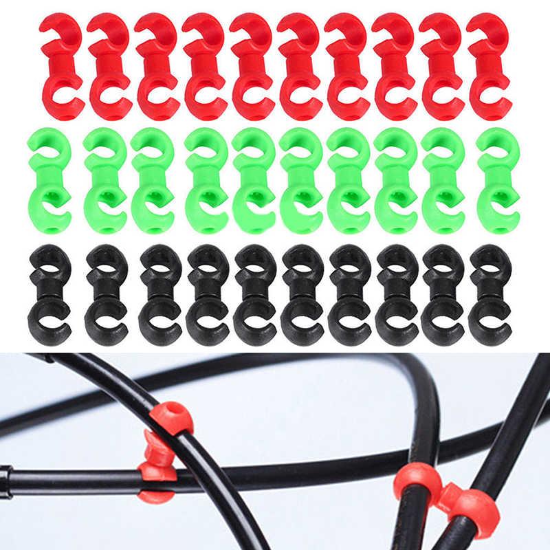 10 x Bike Rotating S Shaped Hook Clips Brake Gear Cross Tools Tidy Buckle G2E0