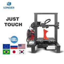 Impresora 3D LONGER LK4 con impresión 3D de pantalla táctil con diseño único de marco, suministro de energía seguro para la impresión de la hoja de vida, impressora 3d drukarka 3d impresoras 3d 3D Printer