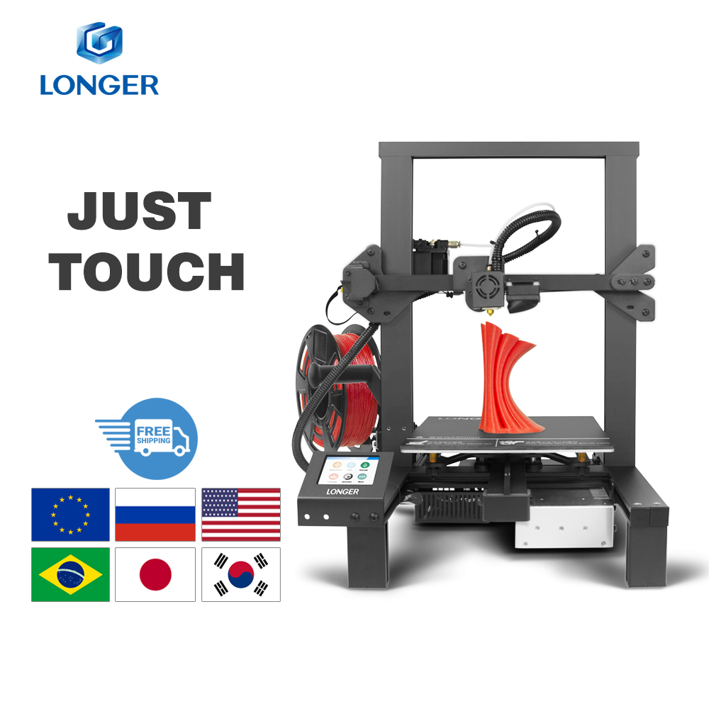 LONGER LK4 3D Printer Touch Screen 3D Print with Unique Frame Design Resume Printing Safe Power Supply 3D Printer Kit(China)