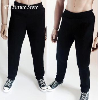 1 6 skala mężczyzna czarne ubrania akcesoria do butów spodnie sportowe spodnie Model dla 12 #8222 figurka ciała akcesoria tanie i dobre opinie Półprodukty produkt Unisex It is for male figures Remastered version 8 lat Temat 1 6 figure Zapas rzeczy Film i telewizja