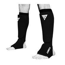 Protège-tibia de boxe en coton,protecteur de cheville, MMA, cou-de-pied, protection des pieds,