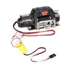 โลหะไฟฟ้า Winch 3 วิธีรีโมทคอนโทรล Receiver 1/10 TRX4 Defender Axial SCX10 RC Crawler รถอะไหล่