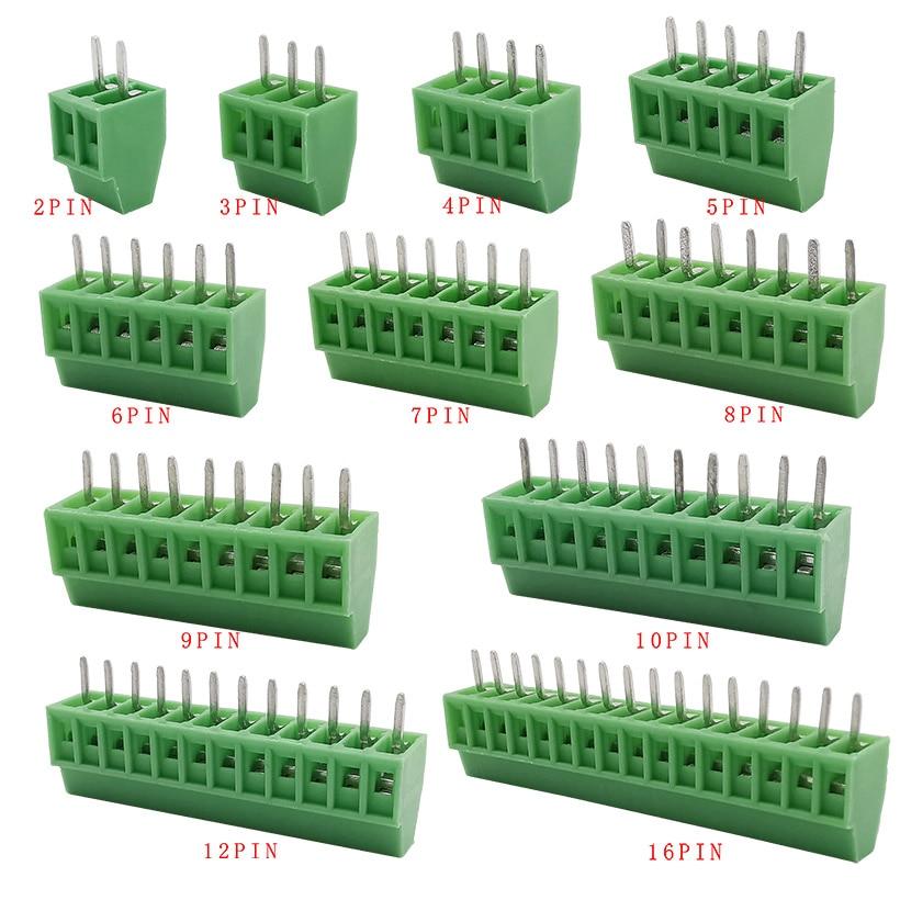 KF128-2.54 Американская классификация проводов 2р 3P 4 5 6P 7P 8 9P 10 12P 16P соединения терминала KF128 2,54 мм PCB мини Винтовые клеммы для проводов 5/10 шт