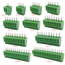 KF128-2.54 2P 3P 4P 5P 6P 7P 8P 9P 10P 12P 16P Splice Terminal KF128 2.54mm PCB Mini Screw Terminal Blocks for Wires 5/10pcs