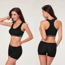 Hot Summer Style Women Cotton Stretch Athletic Vest Gym Fitness Sports Bra no ri