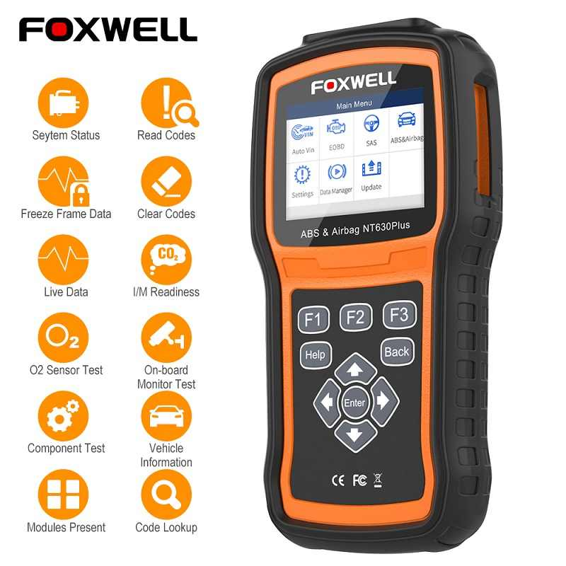 Foxwell NT630 Plus OBD2 Automotive Scanner Abs Srs Airbag Reset Universele ODB2 Auto Diagnostic Tool Code Reader Obd 2 Scanner