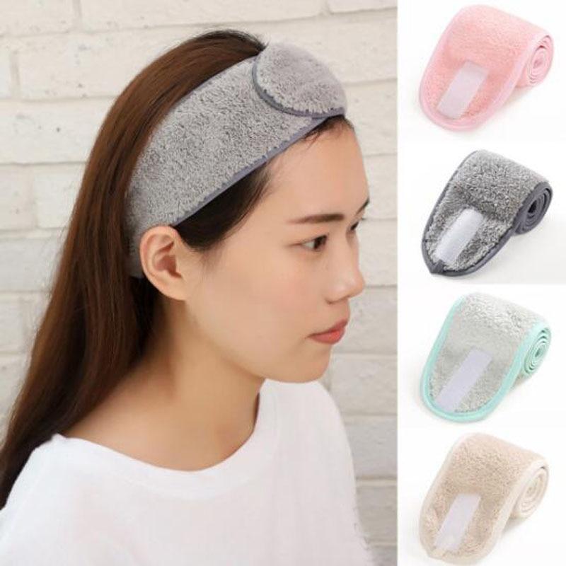 Cosmetic Wrap Tiara Turban Face Wash Adjustable Yoga Women Facial Toweling Bath Hairband Makeup Headbands SPA Salon Accessories