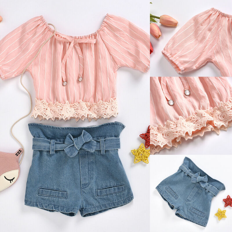 18M-5Year baby girls jeans shorts 2020 summer girl short pants for kids ripped jeans for children denim shorts 1
