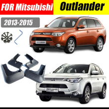 Mud flaps For Mitsubishi Outlander 2013-2015 Mudguards Fender Outlander Mud flap Splash Guard Fenders Car accessories Front Rear car styling abs front rear door mud splash flap guard fender for honda cr v 2015 crv 4dr mudguards 2012 2013 2014 2015 black