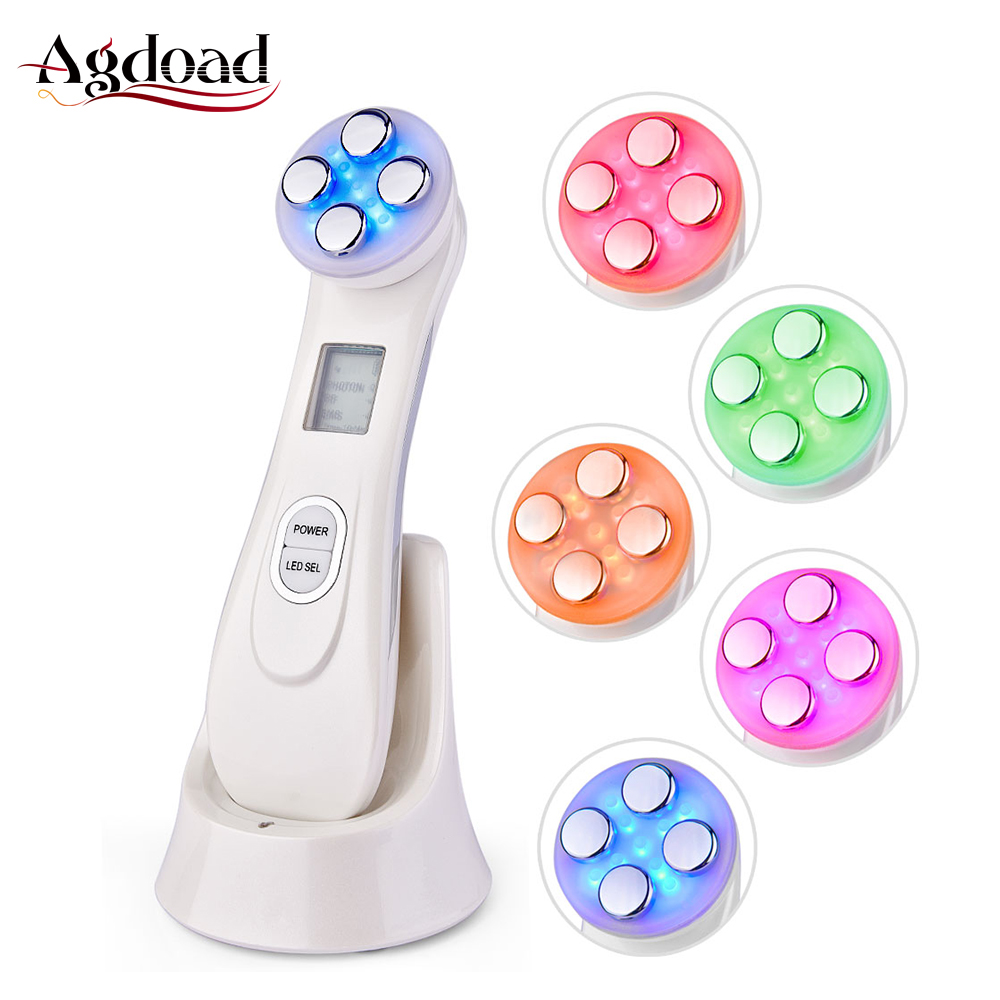 RF EMS Electroporation LED Photon Light Therapy Beauty Device Anti Aging Face Lifting Tightening Eye Facial Skin Care Tools Drop