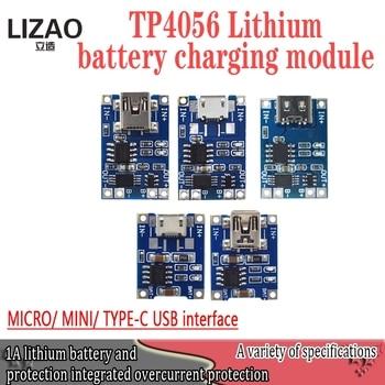 Electrónica Inteligente-Placa de carga de batería de litio, 5V, tipo c, 1A...