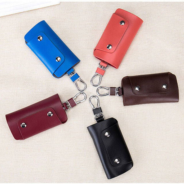 2019 Fashion Trend Men Women Unisex Keys Bag Chain Holder Case Pouch Portable Organizer Solid Simple Car House Keys Wallets