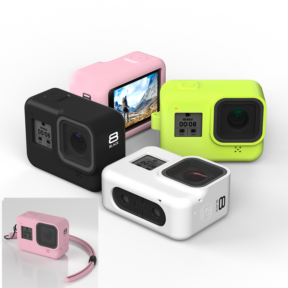 New Soft Silicone Body Case For Gopro Hero 8 Case Silicone Protective Full Cover Shell