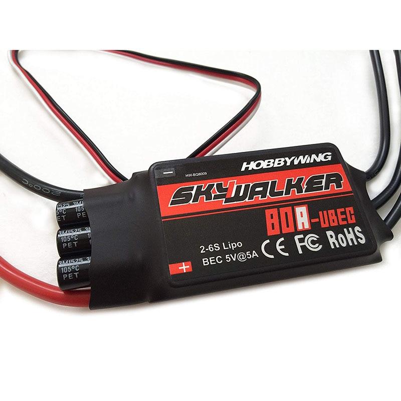 Контроллер скорости Hobbywing Skywalker с UBEC для РУ самолетов, вертолетов, 15 А 20 А 30 А 40 А 50 А 60 А 80 А