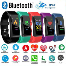 115 Plus Color Screen Smart Bacelet Monitoring Heart Rate Blood Pressure Sleep Health Detection Information To Remind Adult