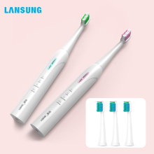 Lansung Sonic Electric Toothbrush Rechargeable Ultrasonic Toothbrush Heads Replaceable Adult Toothbrush Whitening Smart  Gift