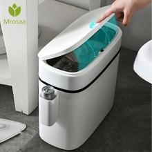 12L Large Capacity Trash Cans Kitchen Toilet Garbage Bag Holder Rubbish Bin Dustbin Bucket Crack Press-Type Bathroom Waste Bin