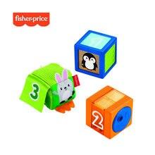 Fisher price stack & discover сенсорные блоки 3 красочные детские