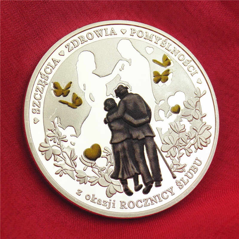 Wedding Silver Coin Love Forever