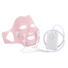 Photon Therapy Facial Soft Gel Mask with Acupoin Vibration LED Face Skin Care Tool Reduce Wrinkle Lift Massage Instrument Beauty facial soft gel mask with acupoin therapy for face skin no wrinkle portable charging beauty vibration lift massage instrument