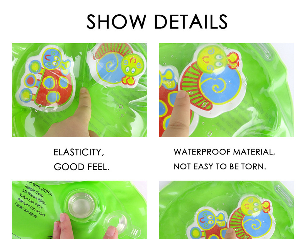 Hc116a49ba7bb45baade9de3478f71d05u 36 Designs Baby Kids Water Play Mat Inflatable PVC Infant Tummy Time Playmat Toddler Water Pad For Baby Fun Activity Play Center