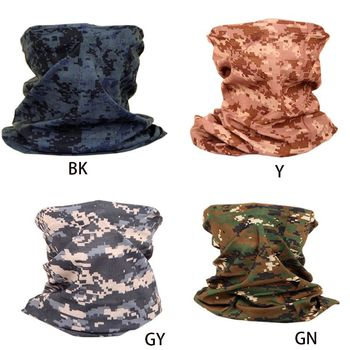 Unisex Military Digital Camouflage Neck Gaiter Tube Seamless Magic Face Cover Mask Scarf Sunscreen Bandana for Fishing Cycling - discount item  32% OFF Scarves & Wraps