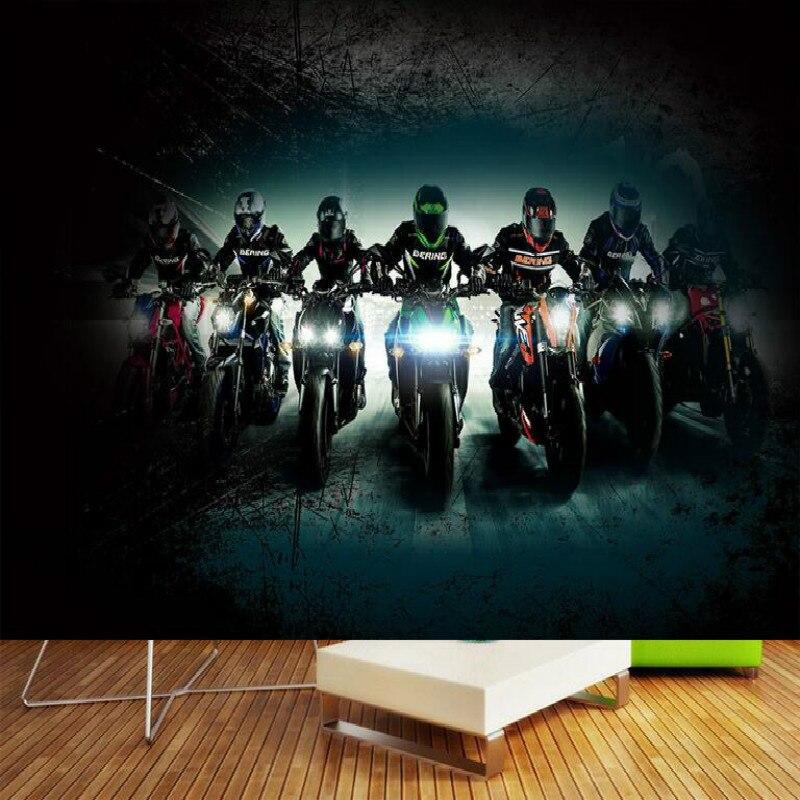Bar Creative Motorcycle Large Mural Wallpaper Living Room Bedroom Wallpaper Painting TV Backdrop 3D Wallpaper For Walls Paper 3d