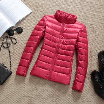 New Brand 90% White Duck Down Jacket Women Autumn Winter Warm Coat Lady Ultralight Duck Down Jacket Female Windproof Parka 23