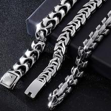 Big Size 20/22/24 Cm Lange Zware Rvs Armband Mannelijke Mens Chain Armbanden Metal Bangles Voor mannen Enorme Hand Sieraden Nieuwe