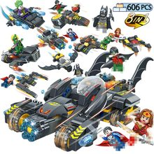 606pcs Superheroes Movie Batman Chariot Model Building Blocks Compatible legoinglys Marvel Super Hero Universe Figures Toys marvel universe hero pa change peter jackson s king wolf joint diy do model doll goods of for display rather for toys gift
