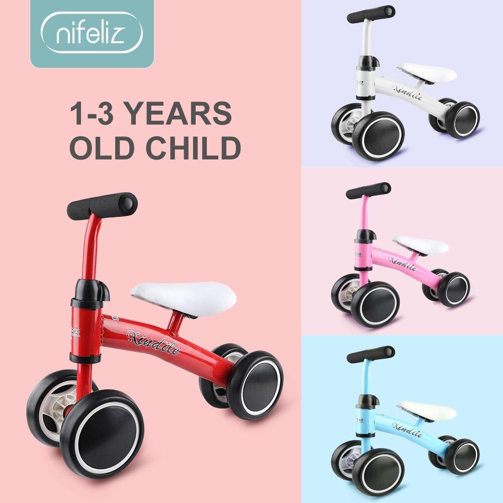 Bébé Balance vélo marcheur enfants monter sur jouet cadeau pour les enfants de 1-3 ans pour l'apprentissage marche Scooter