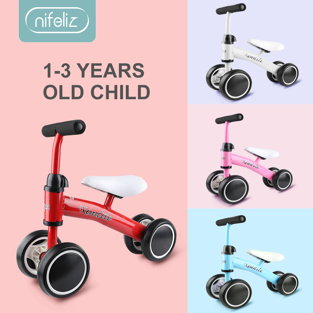 Equilibrio de bebé bicicleta caminante niños paseo en juguete regalo para niños de 1-3 años de edad para aprendizaje paseo Scooter
