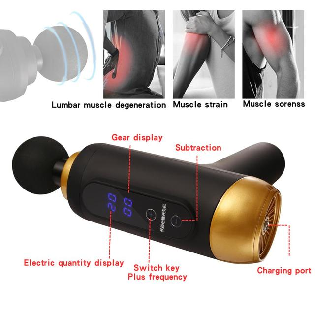 Massage Gun Muscle Relaxation Massager Electric massager Fascial Gun Fitness Equipment Noise Reduction Design For Male Female 3