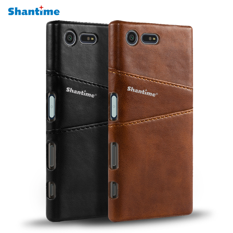 For Sony Xperia X Compact XZ Premium Leather Case For For Sony Xperia XZ1 Compact XZ1 Business Wallet Card Slots Phone Case