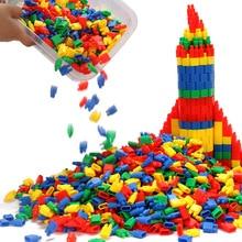 100-1000 шт Строительные блоки для ракетных пуль, пластиковые строительные блоки с надписью, Детские интеллектуальные игрушки LYQ