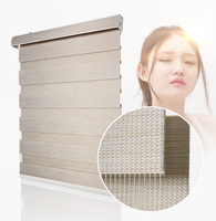 CASAYA Thicken Fabric Zebra Blinds High Quality Dustproof White Cover Roller Blinds Heavy Duty Day Night Blinds Full Shade