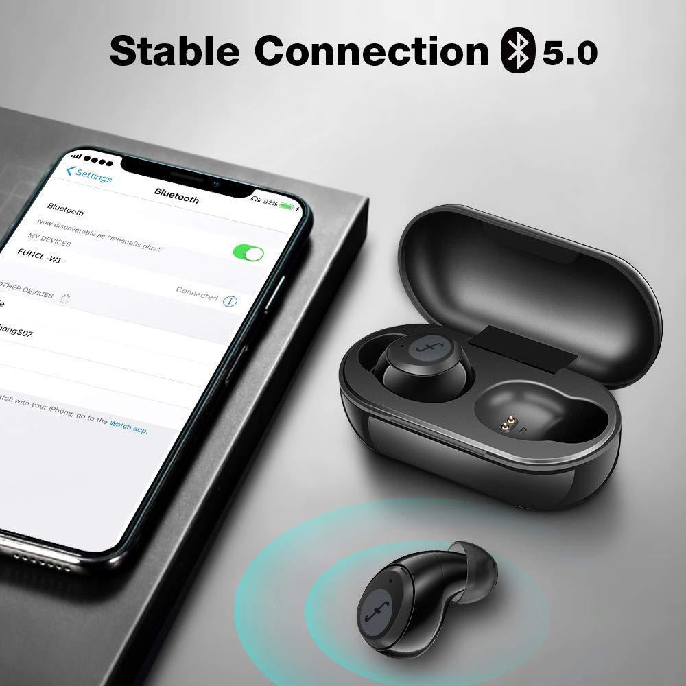 (Обновлено) FUNCL W1 tws bluetooth наушники, двойной микрофон, сенсорное управление, игровая гарнитура, наушники 5,0, беспроводные наушники с шумоподав...