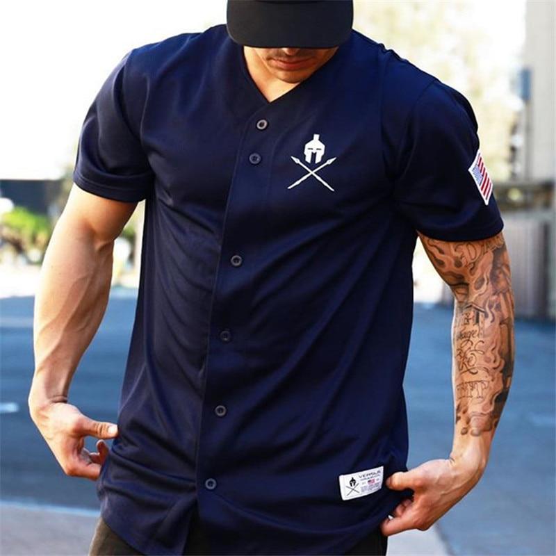 Fashion casual streetwear men 39 s V neck T shirt men 39 s jogger cotton short sleeved shirt brand T shirt men 39 s clothing in T Shirts from Men 39 s Clothing