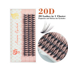 QSTYi 0.07C 20D Professional Individual Eyelash Extension Natural Long Black Effect Makeup False Cluster Eyelashes Soft Cilia(China)