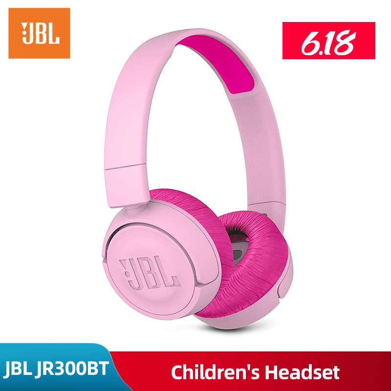 Original Jbl Jr300bt Headset Wireless Bluetooth Kids Learning Headset Low Decibel Auriculares Bass Earphones Wiht Micophone Bluetooth Earphones Headphones Aliexpress