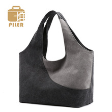 Piler Large Capacity Women Bag Top-Handle Canvas Shoulder Bags Female Shopping Tote Handbag Ladies Crossbody Canvas Hobos Bags for Women canvasartisan brand new women canvas handbag top handle strip shoulder bag female daily travel tote shopping purse hand bags
