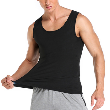Men Neoprene Sweat Sauna Vest Body Shapers Vest Waist Trainer Slimming Tank Top Shapewear Corset Gym Underwear Women Fat Burn 4