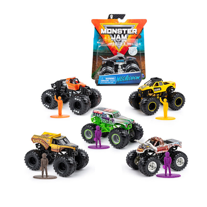 Original SPIN Master Monster Jam Monster Truck Boy Child Toy Alloy Car Model Inertia Four-wheel Drive Off-road Vehicle Gift
