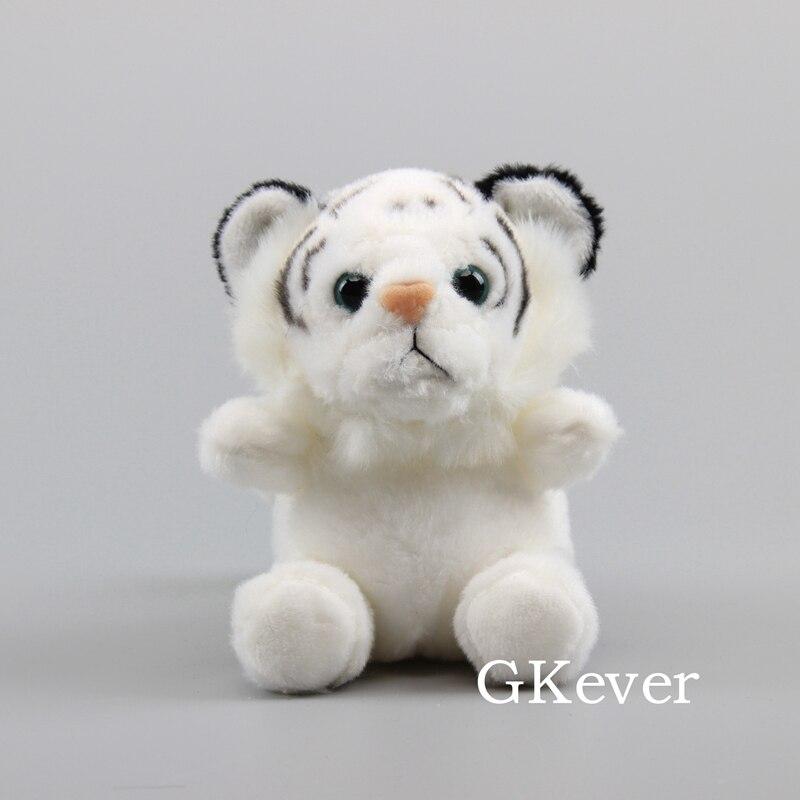 13cm Tiger Plush Keychain Pendant Cartoon Anime White Tiger Plush Toys Doll Children Baby Christmas Birthday Gift