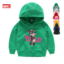 Childrens Hoodies Sweatshirts Favorite Online Games Can Speak Tom Cat Prints Boy and His Friends 7T
